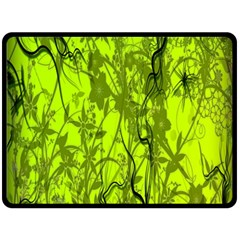 Concept Art Spider Digital Art Green Double Sided Fleece Blanket (large)  by Simbadda