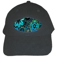 Sun Set Floral Black Cap by Simbadda