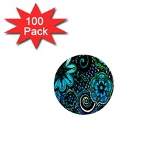 Sun Set Floral 1  Mini Buttons (100 Pack)  by Simbadda