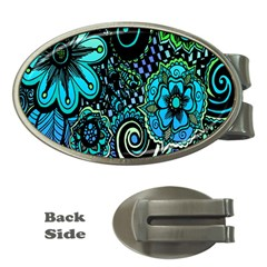 Sun Set Floral Money Clips (oval)  by Simbadda