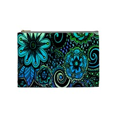 Sun Set Floral Cosmetic Bag (medium)  by Simbadda