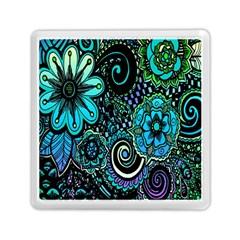 Sun Set Floral Memory Card Reader (square)  by Simbadda