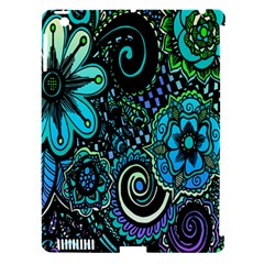 Sun Set Floral Apple Ipad 3/4 Hardshell Case (compatible With Smart Cover) by Simbadda