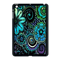 Sun Set Floral Apple Ipad Mini Case (black) by Simbadda