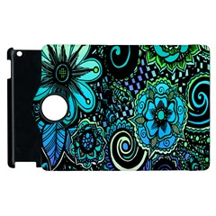 Sun Set Floral Apple Ipad 2 Flip 360 Case by Simbadda