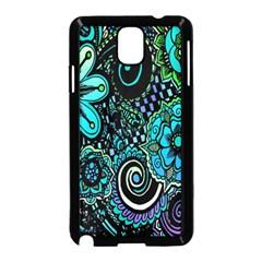 Sun Set Floral Samsung Galaxy Note 3 Neo Hardshell Case (black) by Simbadda