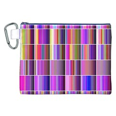 Plasma Gradient Gradation Canvas Cosmetic Bag (xxl) by Simbadda
