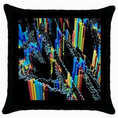 Abstract 3d Blender Colorful Throw Pillow Case (black) by Simbadda