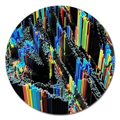 Abstract 3d Blender Colorful Magnet 5  (round) by Simbadda
