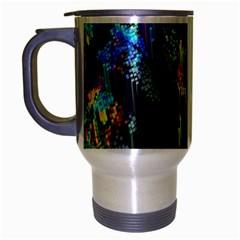 Abstract 3d Blender Colorful Travel Mug (silver Gray) by Simbadda