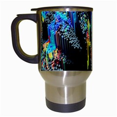 Abstract 3d Blender Colorful Travel Mugs (white)