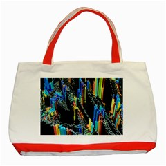 Abstract 3d Blender Colorful Classic Tote Bag (red) by Simbadda