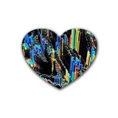 Abstract 3d Blender Colorful Rubber Coaster (heart)  by Simbadda