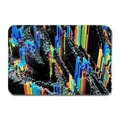 Abstract 3d Blender Colorful Plate Mats by Simbadda