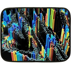 Abstract 3d Blender Colorful Double Sided Fleece Blanket (mini)