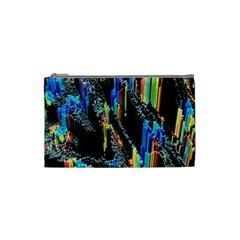 Abstract 3d Blender Colorful Cosmetic Bag (small)  by Simbadda