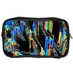 Abstract 3d Blender Colorful Toiletries Bags by Simbadda