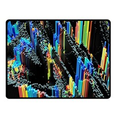 Abstract 3d Blender Colorful Fleece Blanket (small) by Simbadda