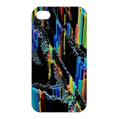Abstract 3d Blender Colorful Apple Iphone 4/4s Premium Hardshell Case by Simbadda