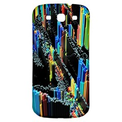 Abstract 3d Blender Colorful Samsung Galaxy S3 S Iii Classic Hardshell Back Case by Simbadda