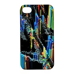 Abstract 3d Blender Colorful Apple Iphone 4/4s Hardshell Case With Stand by Simbadda