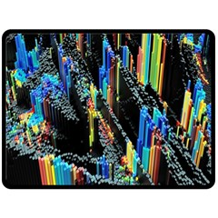 Abstract 3d Blender Colorful Double Sided Fleece Blanket (large)  by Simbadda