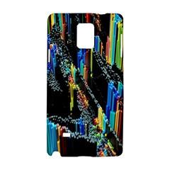 Abstract 3d Blender Colorful Samsung Galaxy Note 4 Hardshell Case by Simbadda