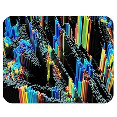Abstract 3d Blender Colorful Double Sided Flano Blanket (medium)  by Simbadda