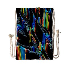 Abstract 3d Blender Colorful Drawstring Bag (small) by Simbadda