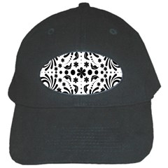 Leaf Flower Floral Black Black Cap by Alisyart