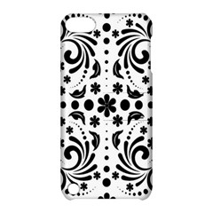 Leaf Flower Floral Black Apple Ipod Touch 5 Hardshell Case With Stand by Alisyart