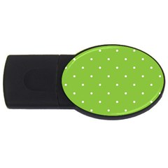 Mages Pinterest Green White Polka Dots Crafting Circle Usb Flash Drive Oval (2 Gb) by Alisyart