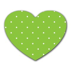 Mages Pinterest Green White Polka Dots Crafting Circle Heart Mousepads by Alisyart