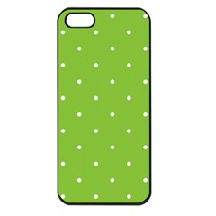 Mages Pinterest Green White Polka Dots Crafting Circle Apple Iphone 5 Seamless Case (black) by Alisyart