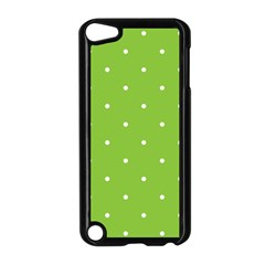 Mages Pinterest Green White Polka Dots Crafting Circle Apple Ipod Touch 5 Case (black) by Alisyart