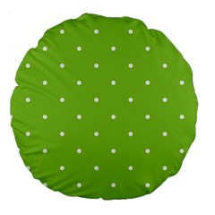 Mages Pinterest Green White Polka Dots Crafting Circle Large 18  Premium Round Cushions by Alisyart