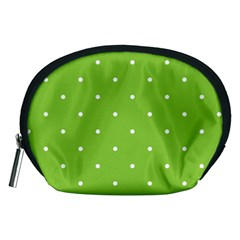 Mages Pinterest Green White Polka Dots Crafting Circle Accessory Pouches (medium)  by Alisyart
