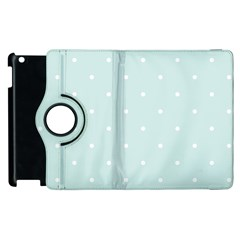 Mages Pinterest White Blue Polka Dots Crafting  Circle Apple Ipad 3/4 Flip 360 Case by Alisyart