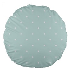 Mages Pinterest White Blue Polka Dots Crafting  Circle Large 18  Premium Round Cushions by Alisyart