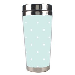 Mages Pinterest White Blue Polka Dots Crafting  Circle Stainless Steel Travel Tumblers by Alisyart
