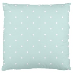 Mages Pinterest White Blue Polka Dots Crafting  Circle Large Flano Cushion Case (two Sides) by Alisyart