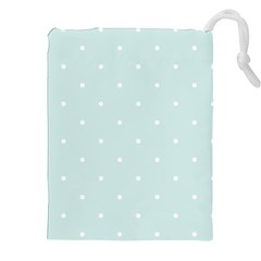 Mages Pinterest White Blue Polka Dots Crafting  Circle Drawstring Pouches (xxl) by Alisyart