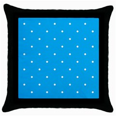 Mages Pinterest White Blue Polka Dots Crafting Circle Throw Pillow Case (black) by Alisyart