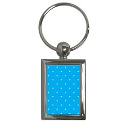 Mages Pinterest White Blue Polka Dots Crafting Circle Key Chains (rectangle)  by Alisyart