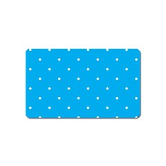 Mages Pinterest White Blue Polka Dots Crafting Circle Magnet (name Card) by Alisyart