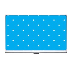 Mages Pinterest White Blue Polka Dots Crafting Circle Business Card Holders by Alisyart