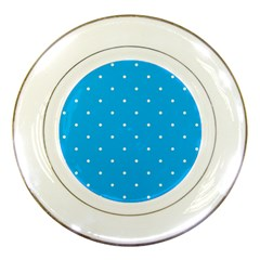 Mages Pinterest White Blue Polka Dots Crafting Circle Porcelain Plates by Alisyart