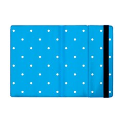 Mages Pinterest White Blue Polka Dots Crafting Circle Apple Ipad Mini Flip Case by Alisyart