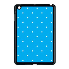 Mages Pinterest White Blue Polka Dots Crafting Circle Apple Ipad Mini Case (black) by Alisyart