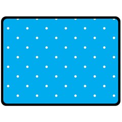Mages Pinterest White Blue Polka Dots Crafting Circle Double Sided Fleece Blanket (large)  by Alisyart